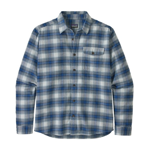 Patagonia Men's L/S LW Fjord Flannel Shirt - Superior Blue