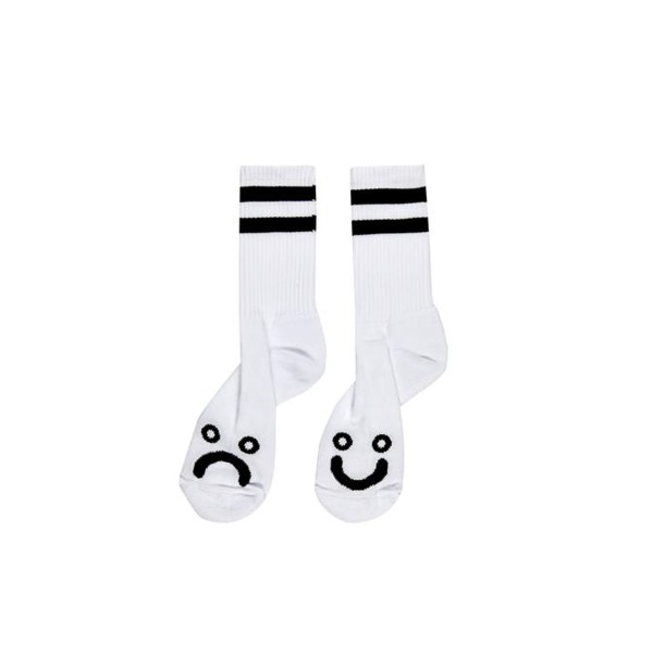 Polar Happy Sad Socks - White