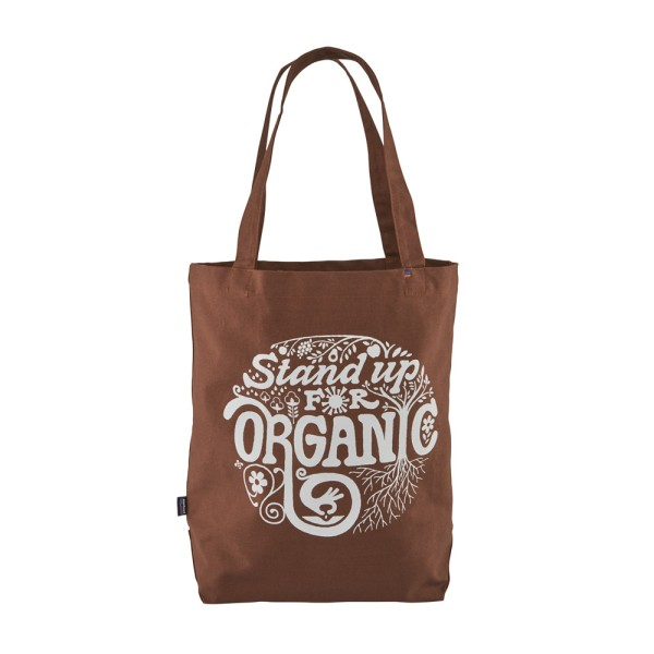 Patagonia Market Tote - Root Revolution Graphic: Earthworm Brown