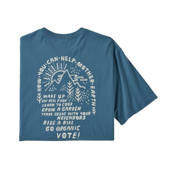 Patagonia Men's Cotton in Conversion Tee - Stone Blue