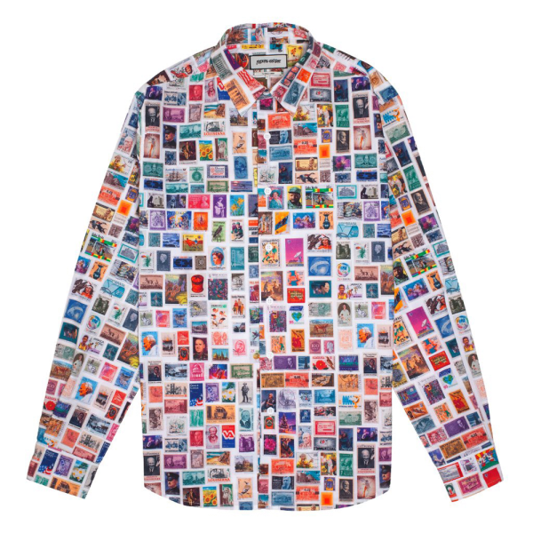 Fucking Awesome Stamps Dress Shirt - White with Color