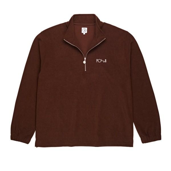 Polar Terry Zip Mockneck - Brown
