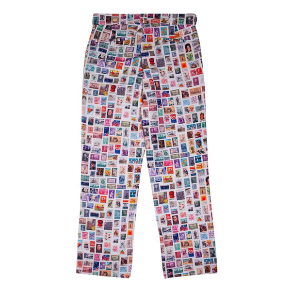 Fucking Awesome Stamps Pants - White with Color