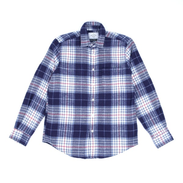Portuguese Flannel Bleeckers Check Shirt - Navy