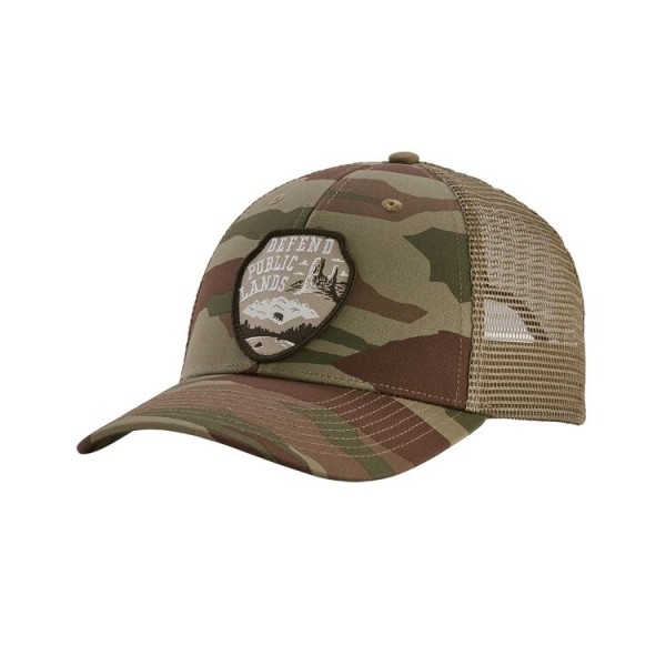 Patagonia Defend Public Lands LoPro Trucker Hat - Bear Witness Camo