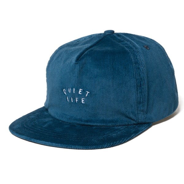 The Quiet Life Standard Cord Relaxed Snapback Cap - Blue