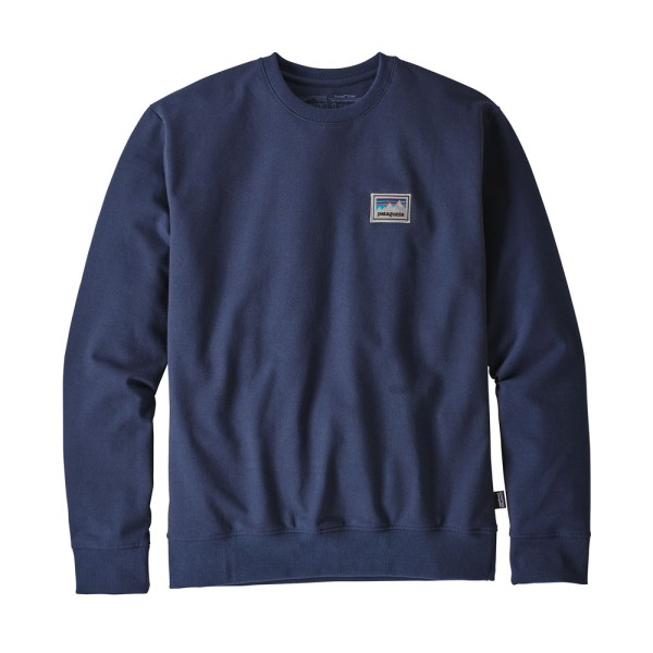 Patagonia M's Shop Sticker Patch Uprisal Crewneck - Navy